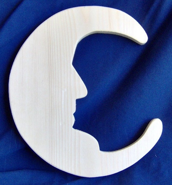 "Wooden ""Man in the Moon"" Cutout"