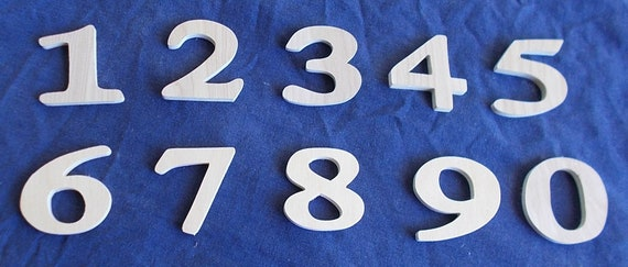 Wooden Numbers 2 Inch 4 pack