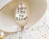 Zero Fox To Give Spoon