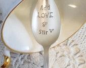 Add Love Stir Spoon