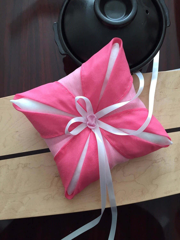 Pink pojagi or jogakbo ring pillow Korean-style ring bearer