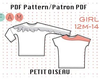 PDF Pattern of Petit Oiseau Shirt