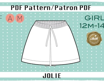 PDF Pattern of the Jolie Skirt 12m-14
