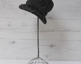 2ddfa33dd2d437 Vintage Wire Hat Holder, Vintage Shop Hat Display, Mid-century Hat Holder,  Wire Wig Holder, Wire Hat Stand