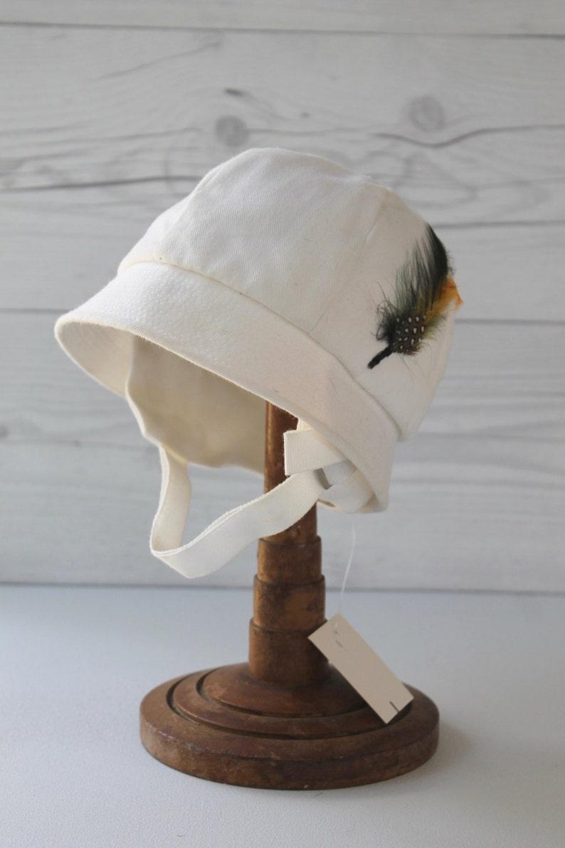 Vintage Child's Sun Hat with Chin Strap Vintage Preppy image 0