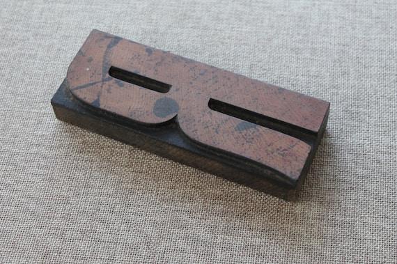 1 x VINTAGE Printing Type Metal Letter S Letterpress Printers Block CAPITAL S