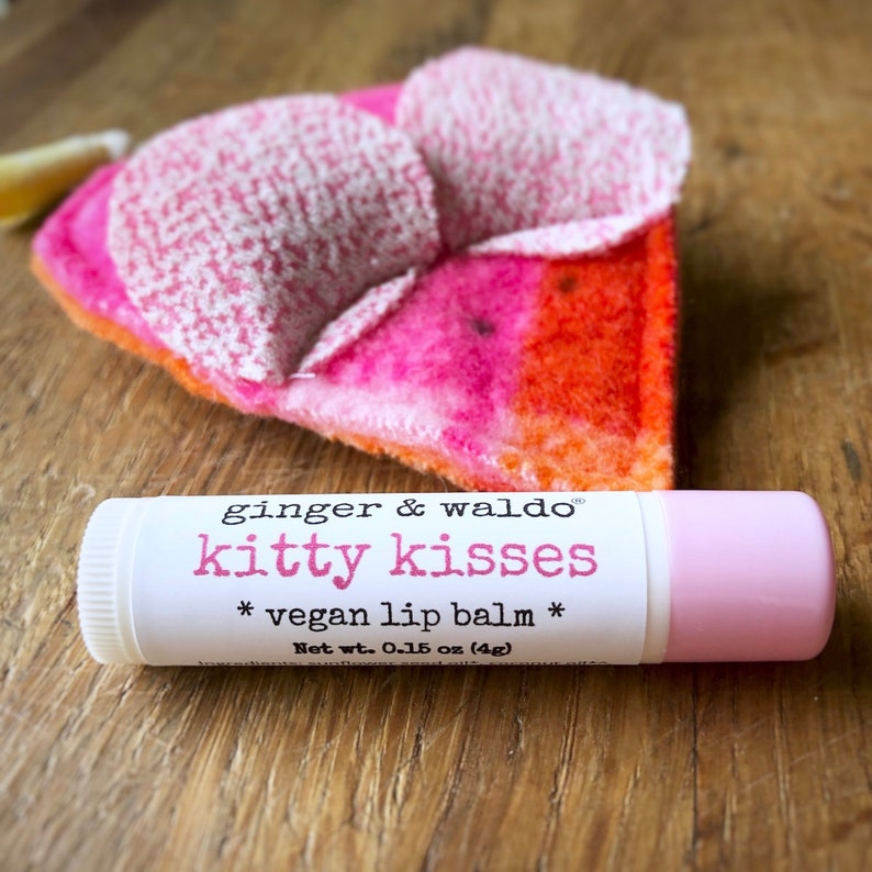 Kitty Kisses Lip Balm Cherry Berry Cruelty Free Vegan  image 0