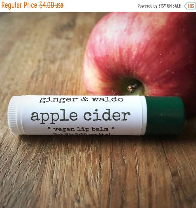 ON SALE Apple Cider Lip Balm Cruelty Free Vegan image 0