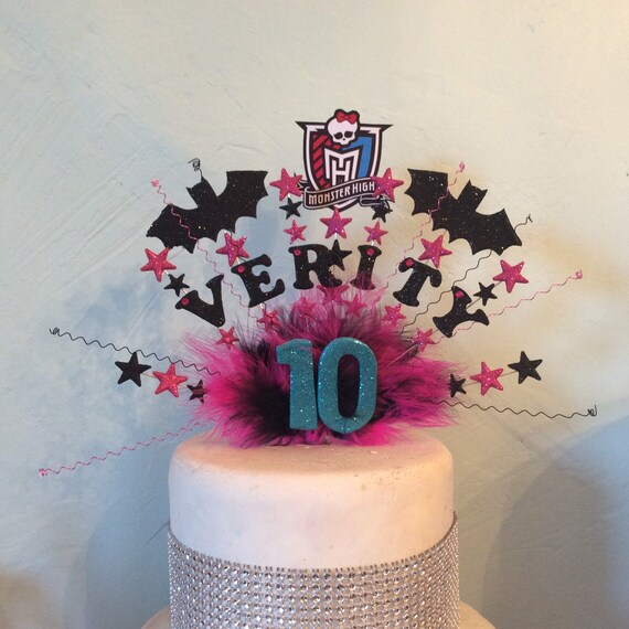 Wondrous Monster High Large Cake Topper Made With Your Choice Of Name Etsy Personalised Birthday Cards Beptaeletsinfo