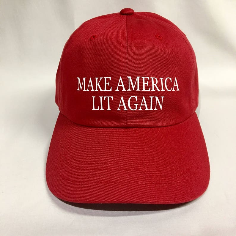 c03ec439313 Make America Lit Again Dad Hat