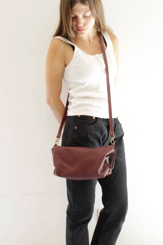 Bordeaux Leather Tote Bag, Women's Burgundy Clutch, Elegant Shoulder Bag, Cross Body Bag, Cosmetic Purse, Soft Leather Handbag Martin Bag