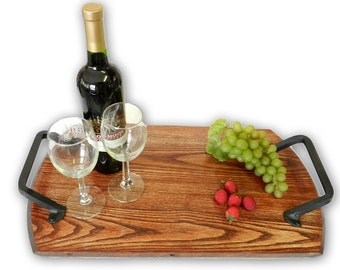 Bistro Trays -  Made from Recycled Wine and Whiskey Barrels.