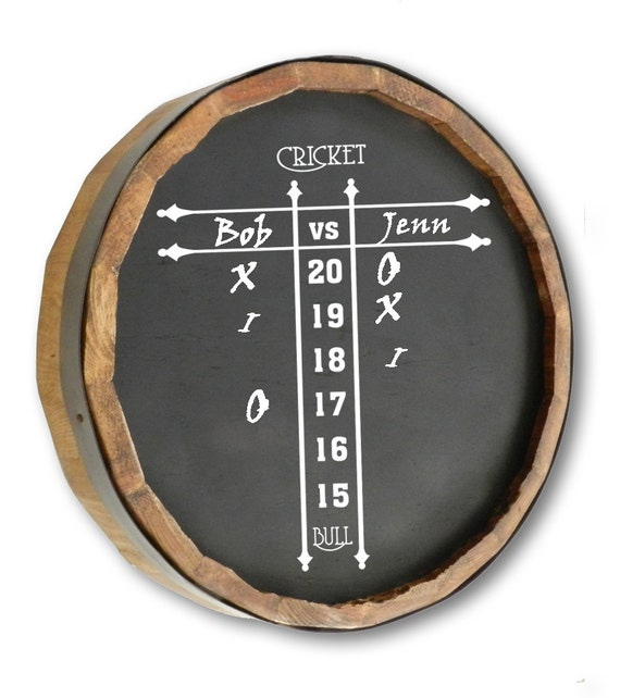 Cricket Quarter Barrel Chalkboard Score Sign Etsy