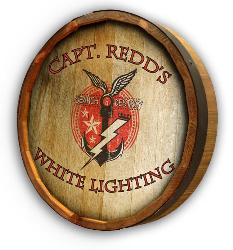 Personalized Lightning Quarter Barrel Head Sign