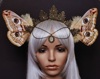 """Fairy crown """"Emperor moth"""""""