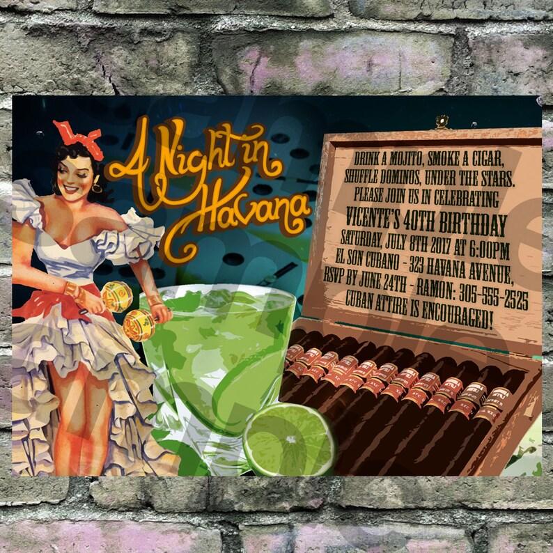 Cuban Theme A Night In Havana Havana Nights Invitation Etsy