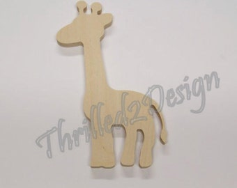 Baby Giraffe Wooden Nursery Shape - Wood and Unpainted