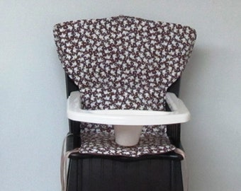 Newport elephant print chair replacement pad Eddie Bauer cushion safety 1st wooden highchair cover feeding chair protector kids furniture & Safety 1st cover | Etsy