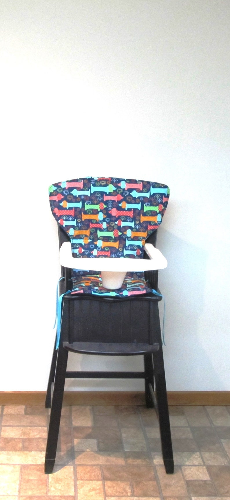Newport Style Wooden Eddie Bauer Wood High Chair Cover Chair Replacement Seat Pad Kids Feeding Chair Protector Doxie Fun