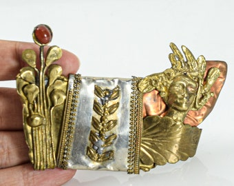 Ancient Roman Style Brooch Reenactment Jewelry Shawl Pin Nice Handmade Brass Gift Roman Pin Greek Pin Brass Fibula Historical Pin
