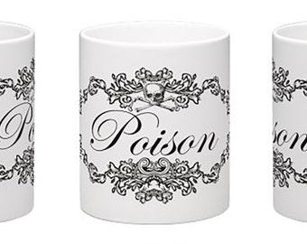 Poison Mug - Poison Print Mug - Vintage Style Poison Mug - Occult Mug - Occult Coffee Mug