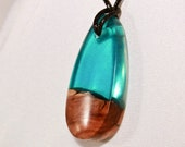 Resin and Wood Necklace -...