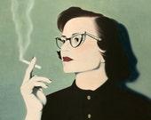Print  5x7 - Smoking Woman