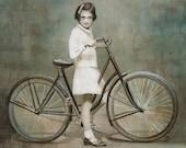 Print 5x7 - Girl on Bike...