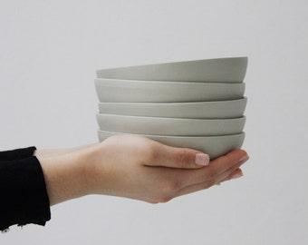 Ceramic plate in gray and glossy glaze, ceramic serving plate, ceramic dessert plate, pasta plate, salad plate