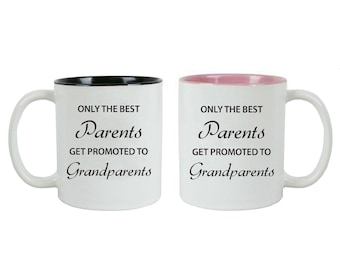 Only the Best Parents Get Promoted to Grandparents 11 oz Ceramic Coffee Mugs Bundle