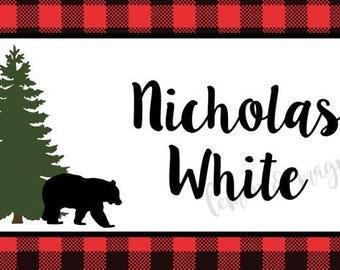 Lumberjack Personalized Calling Card
