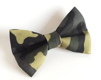 Bow Tie , Camo Bow Tie, Camouflage, Green Camo