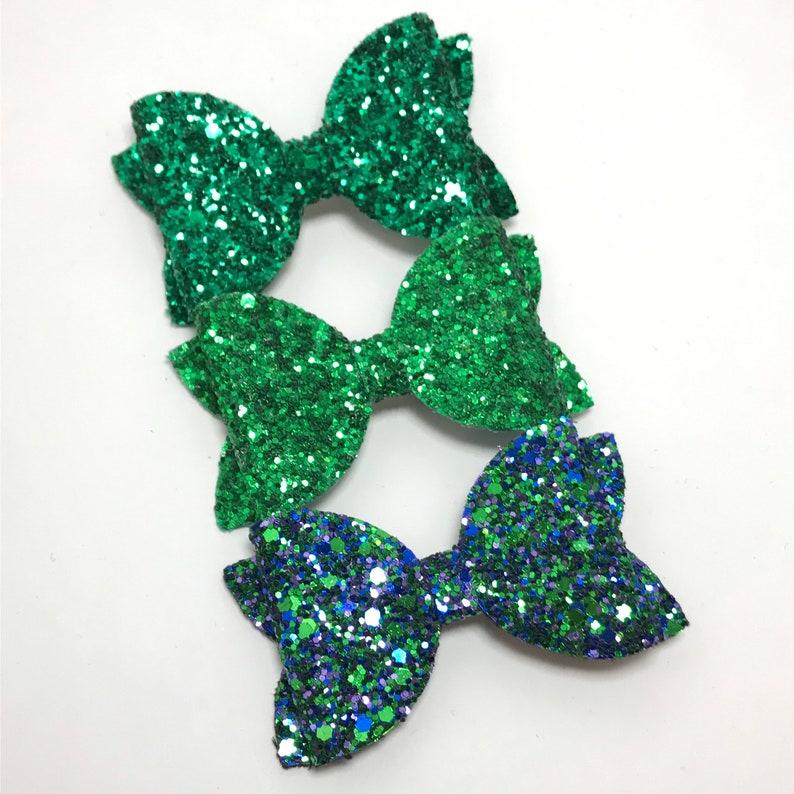 Baby Headband Birthday Headband Green Bow Glitter Bow
