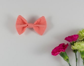 Coral Hair Bow, Bow Tie