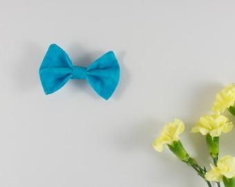 Ocean Blue Hair Bow, Bow Tie