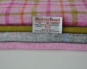 Harris Tweed Fabrics - 4 Piece Mix (19 x 25cm)