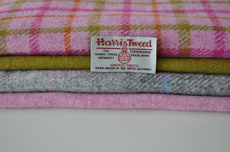 Harris Tweed Fabrics  4 Piece Mix 19 x 25cm image 1