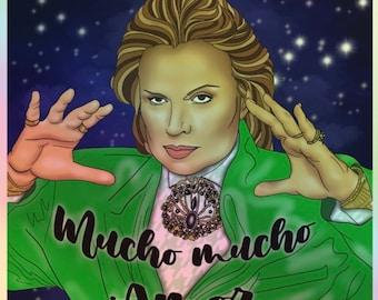 Walter Mercado Mucho Mucho Amor Hologram Sticker