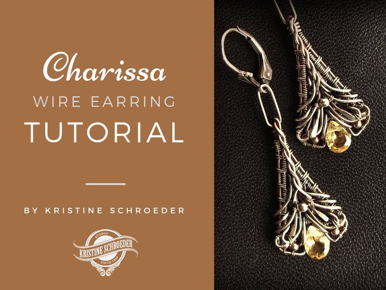 Wire Earring Tutorial How to Make Earrings Wire Wrap image 0