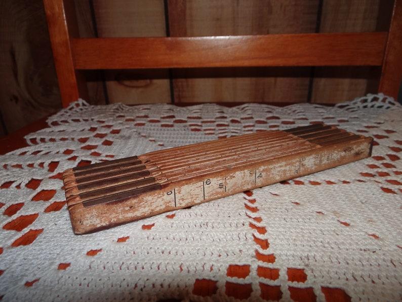 Vintage 72 inch Foldable Wood Measuring Tape