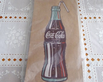 Rare Find!! Brand New Vintage Bag of Coke Brown Paper Bags...1991