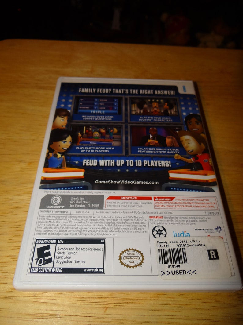 family feud 2012 wii review