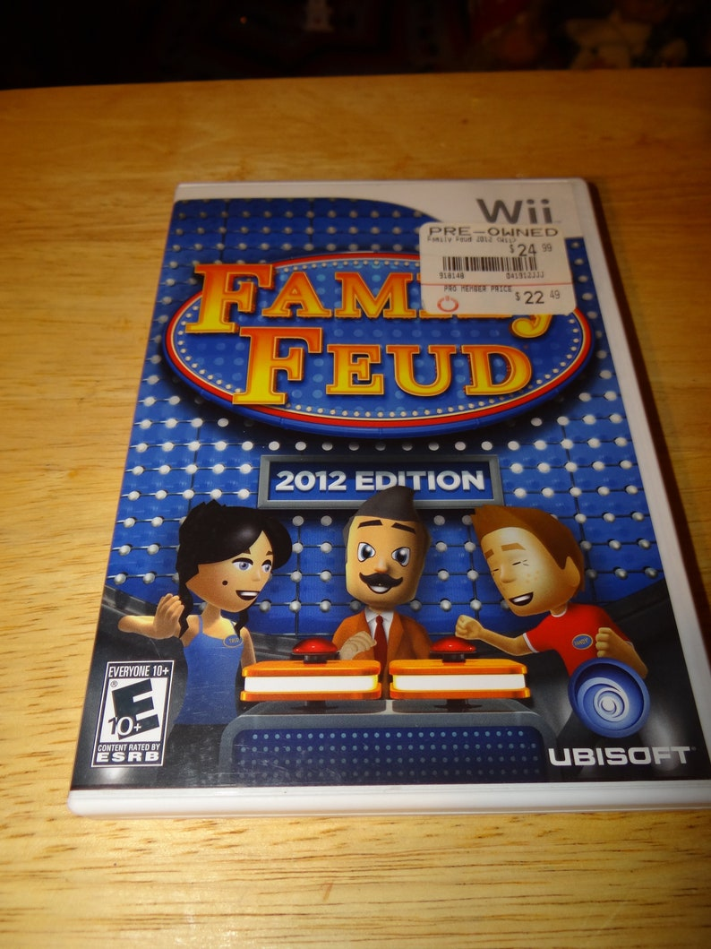 Vintage Wii Game    Family Feud 2012