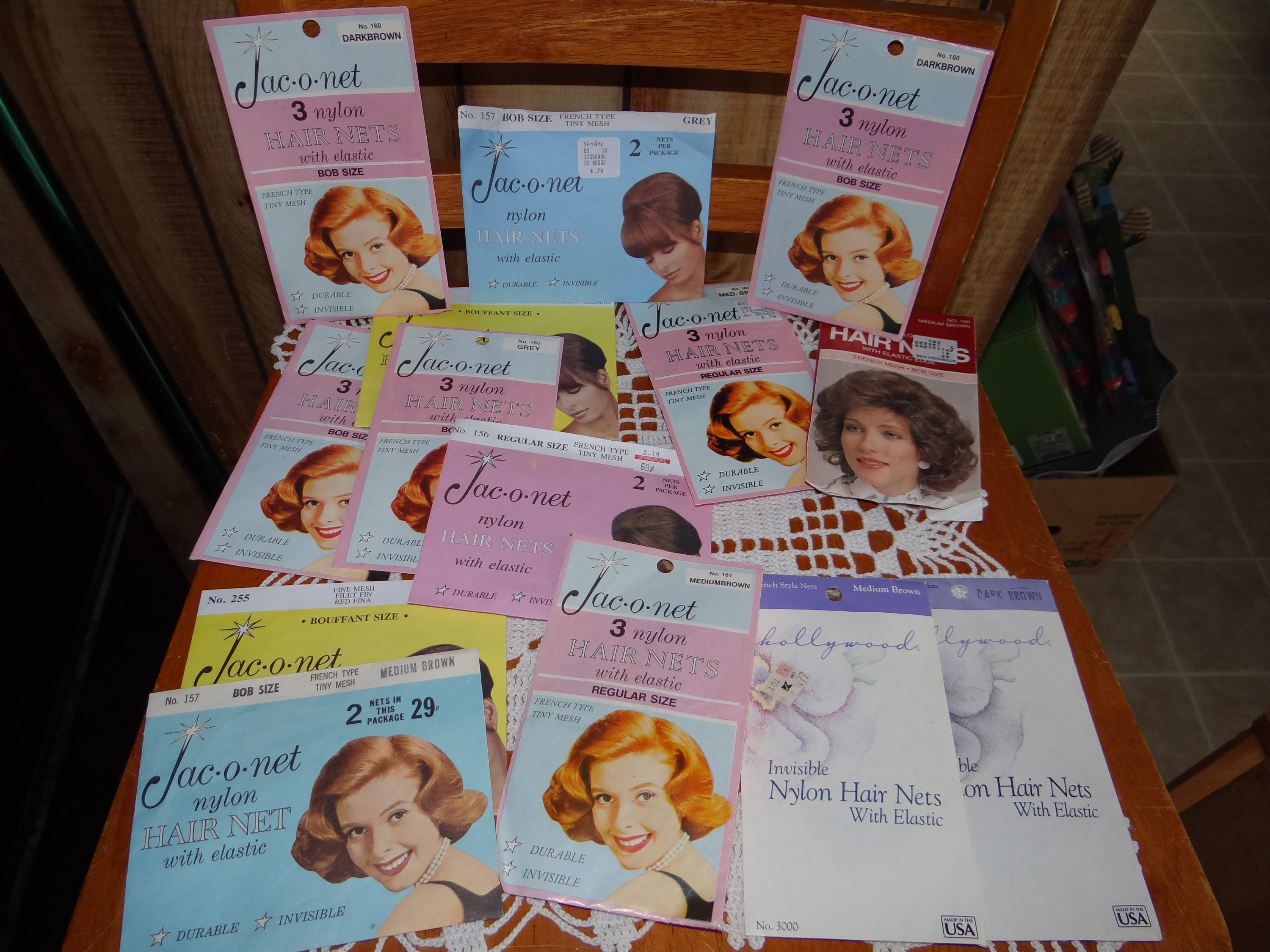 Big Lot Of 14 Vintage Hair Netsg Variety Of Color And Etsy