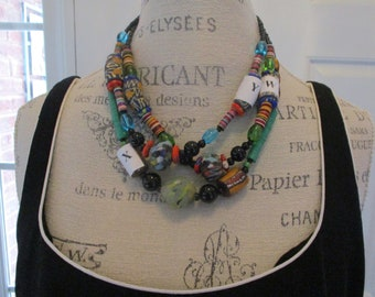 Authentic Handmade Jewelry from Ghana. Finest natural Beads Necklace