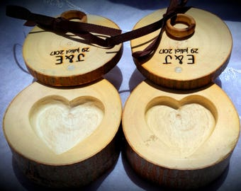 Box for wedding ring, wooden trunk for wedding ring, Personalized wooden ring box