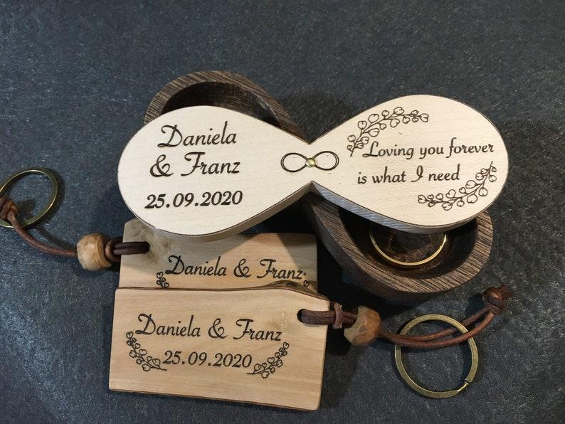 Custom wooden wedding ring holder handmade original image 0