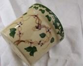 Vintage Pottery Crock Planter Spongeware Heart Accent Alpine Pottery Roseville Ohio Circa 1980 39 s Cottage chic