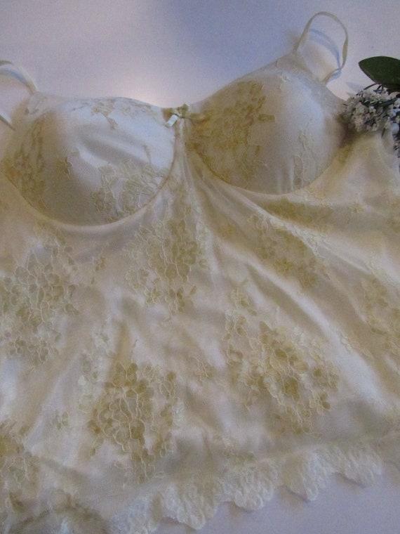 Vintage Lace Bustier Corset Camisole Crop Top Siz… - image 3