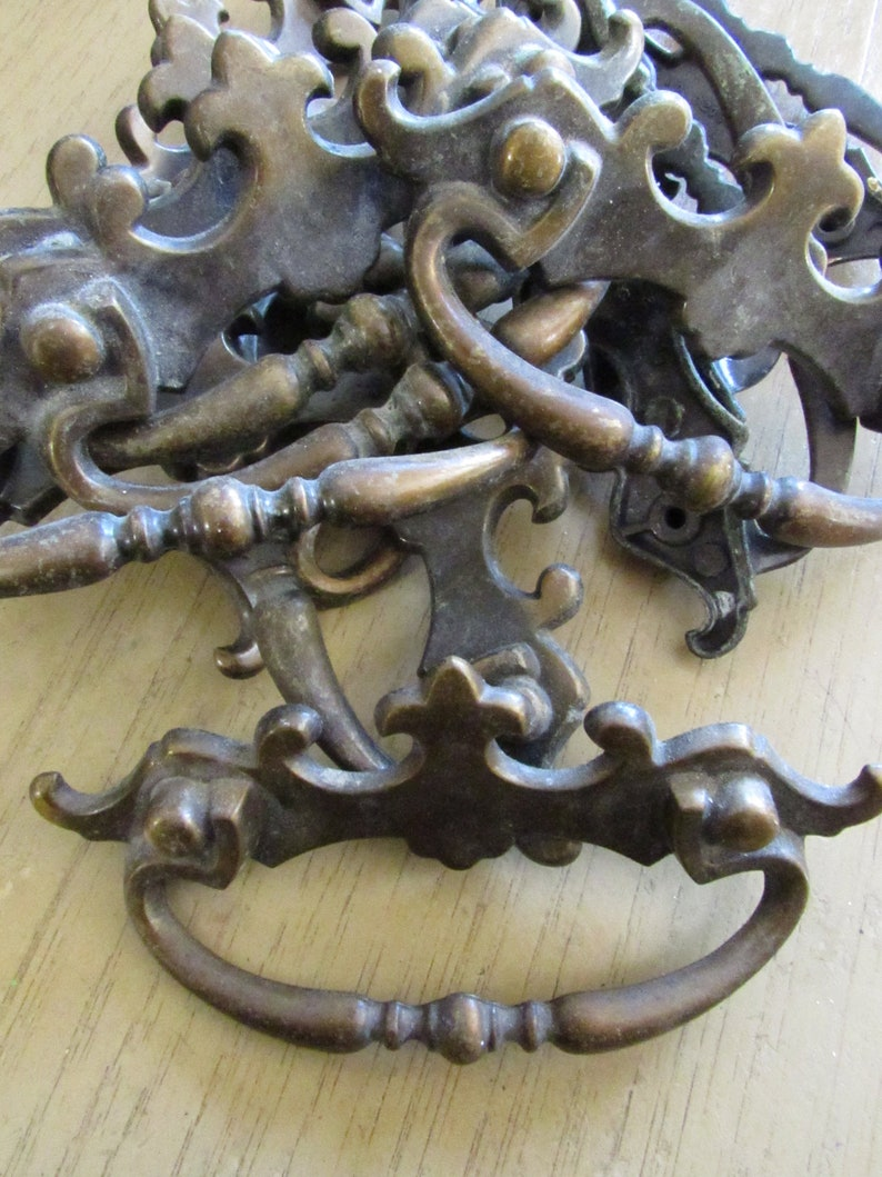 """Gorgeous...Chippendale Antique Drawer Pulls Architectural Hardware 3 /"""" on center"""